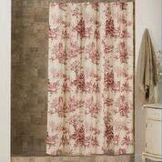 Thomasville Bouvier Red Toile Shower Curtain