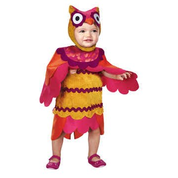 Disguise Baby's Too Cute To Spook Hoot Costume, Red/Yellow, (Baby Girl Owl Halloween Costume)