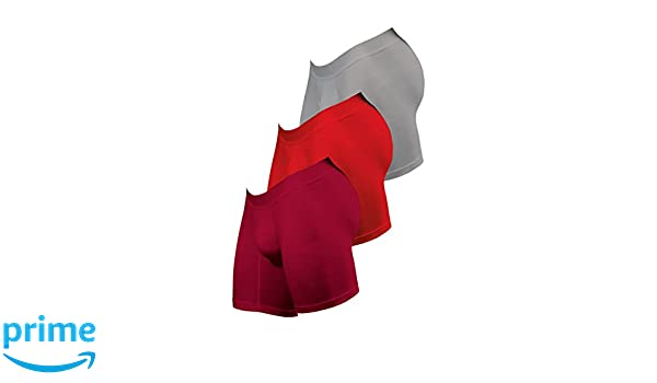 Boxers Colombianos Geordi 5175 Mens Long Boxer Briefs Maximum Comfort Underwear Vinotinto-Red-Gray S at Amazon Mens Clothing store: