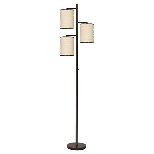 Ribbed Base Floor Lamp - Revel Haru 74