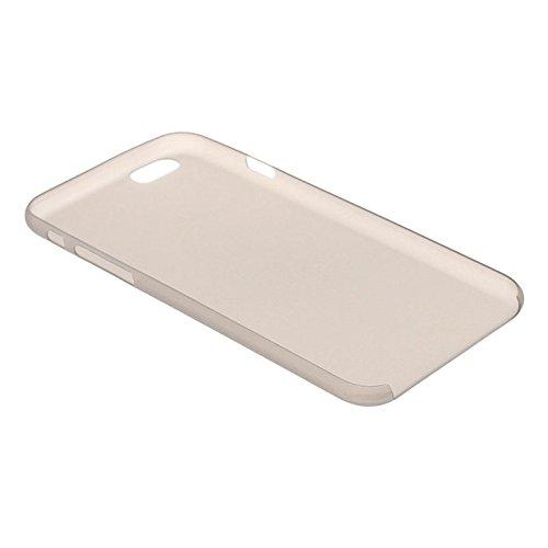 Mxnet 0.3mm Material de policarbonato ultrafino Shell de protección para PC para iPhone 6, versión transparente / edición mate Fundas ( Color : Black ) Grey