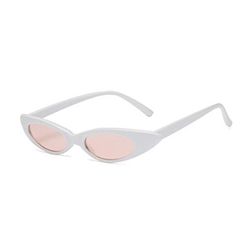 Designer Oval Caja sol pequeñas Fuyingda de de vintage Hombres Cat sol Gafas Blanca Gafas y de Polvo mujeres q0AaOg