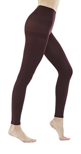 (Women's 150 Denier Thick Footless Tights Pantyhose (Maroon - 2Pair, M/L))