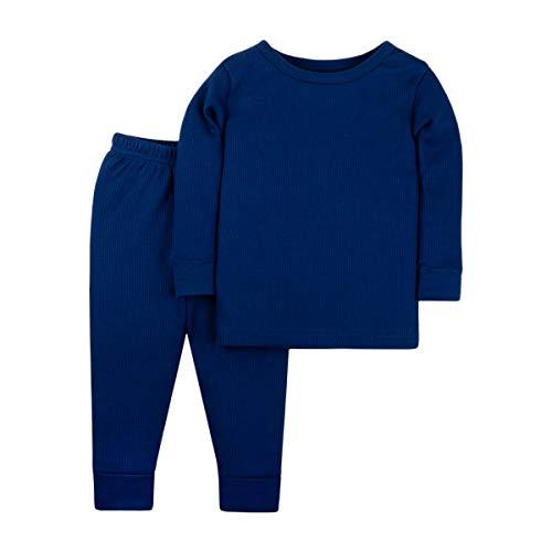 Johns Long Organic - LAMAZE Organic Baby/Toddler Girl, Boy, Unisex Thermal Long John Set, Blue, 9M
