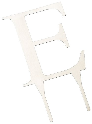 Weddingstar 4 Inch H Brushed Silver Monogram - Letter