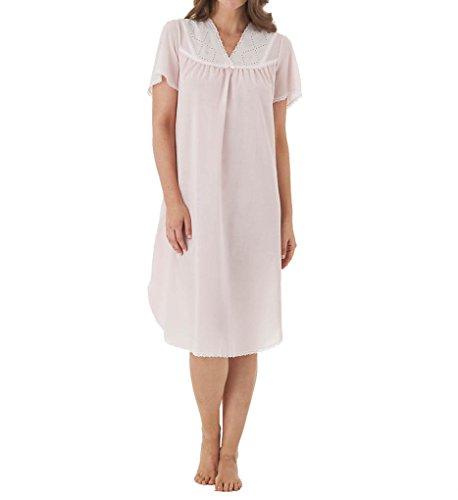 Batiste Slip (Shadowline Cotton Batiste Gown (4789) (LARGE, PINK))