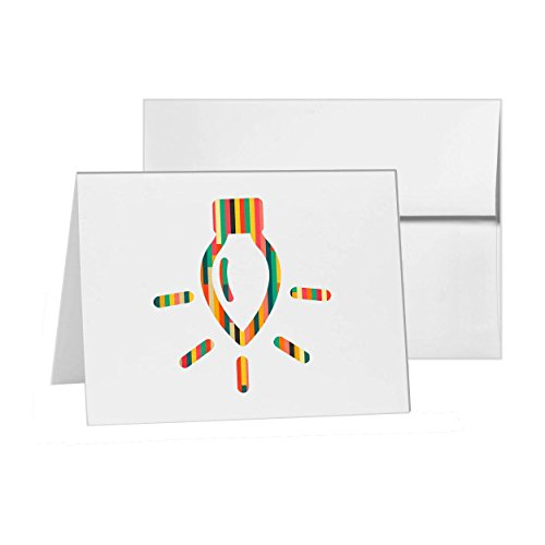Christmas Light Bright Decoration Holiday, Blank Card Invitation Pack, 15 cards at 4x6, Blank with White Envelopes Style 8325