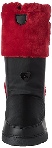 Love Moschino Women's St.Ttod.yuky20 NYL+Ver.Ne/Pell.Rsso Snow Boots Multicolor (Black/Red) n9vbr