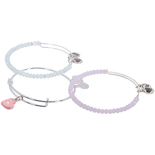 Alex and Ani Sweet Pink and Silver Bangle Bracelet
