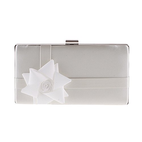 22x11 White COCKTAIl HARDCASE PLACEMENT CLUTCH BAG WEDDING PARTY FLORAL 5x4cm qH1ngxwO