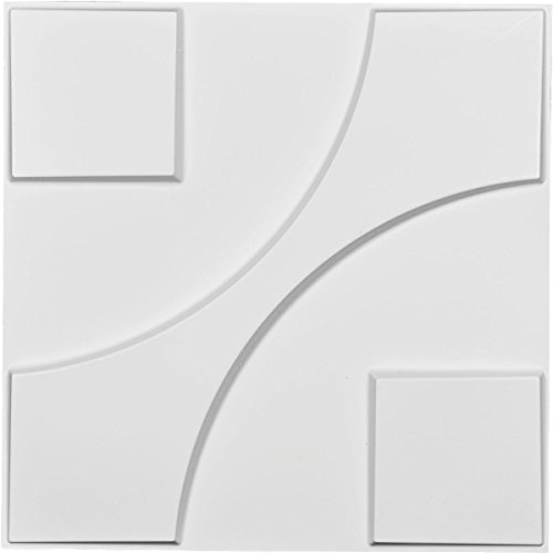 Ekena Millwork WP20X20NEWH Nestor Design Decorative 3D Wall Panel White