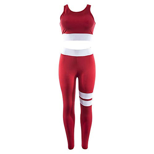 Yoga Set Fitness Clothes Crop Top Pants Running Tights Jogging Gym Sport Wear Elastic Workout 2pcs Tracksuit