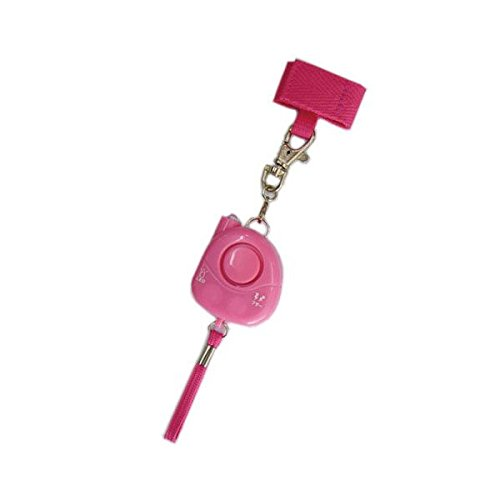 Weatherproof Personal Alarm with Rip Cord Activation And Attachment Utility Strap (PPS-17WPP Waterproof Pink)
