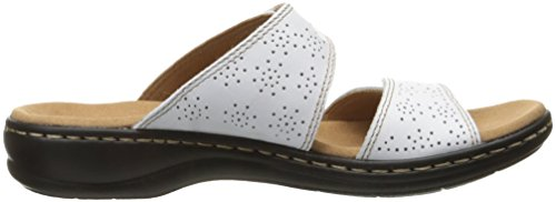 Lacole Sandal White M Clarks Slide Women's 5 Leisa Leather US 7 IEBxqw7Xx