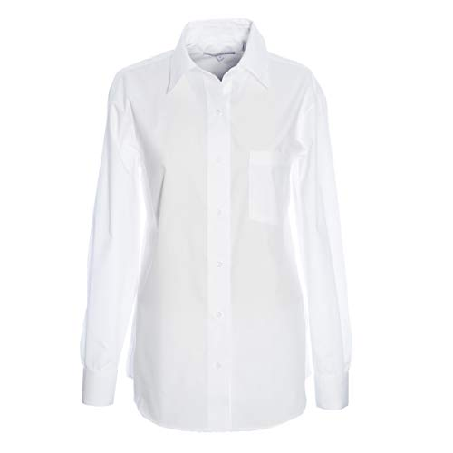 - Foxcroft Long Sleeve CVC Solid Blouse (White, 4)