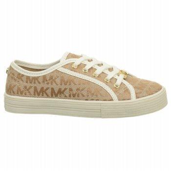 Michael Kors Girl's Ivy Nettle Fashion Sneakers,Camel,5