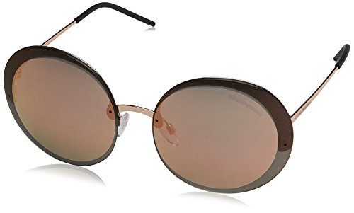 Emporio Armani EA2044 31674Z Pink Gold EA2044 Round Sunglasses Lens Category 3 Armani Gold Sunglasses
