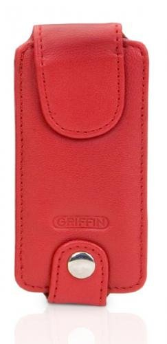 Trio Ipod Nano Leather Case - Griffin Trio 3-in-1 Interchangeable Leather Case for iPod nano 1G, 2G (Red)