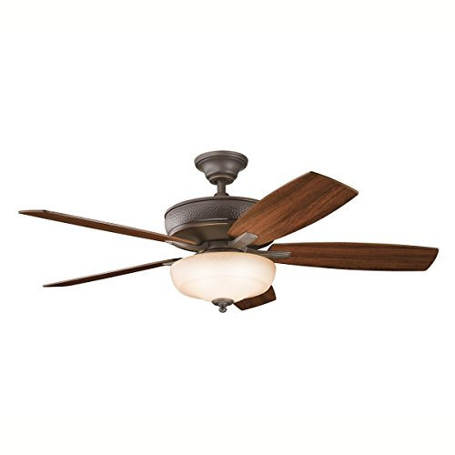 Olde Bronze Blades (Olde Bronze 52in. Indoor Ceiling Fan with 5 Blades - Includes 4in. Downrod)