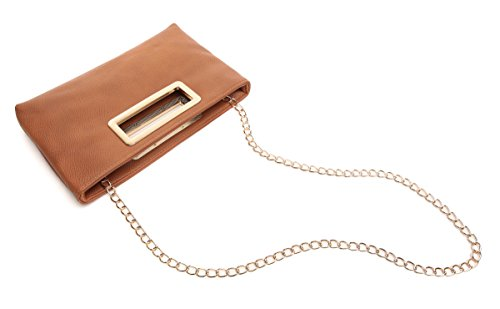 Clutch with Aitbags for Chain Brown Strap Handbag Evening Purse Women Tote Party Shoulder Lady dq1U01