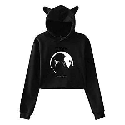 Cat Ear Hoodie Sweater, Women's Aria-na Dangerous Woman Gran-de Lumbar Sweatshirt Hooded