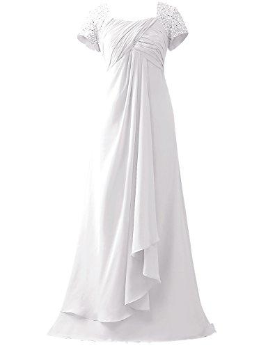 Perles Cdress Paillettes Mancherons Mère Des Robes De Mariée Blanche Prom Robes Formelles