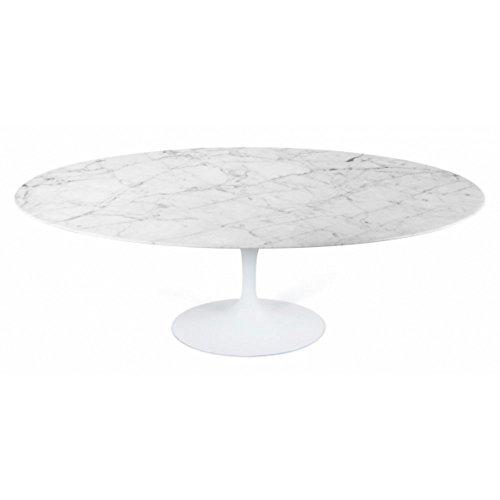 Eero Saarinen Mesa de comedor de estilo Tulip Oval marmol