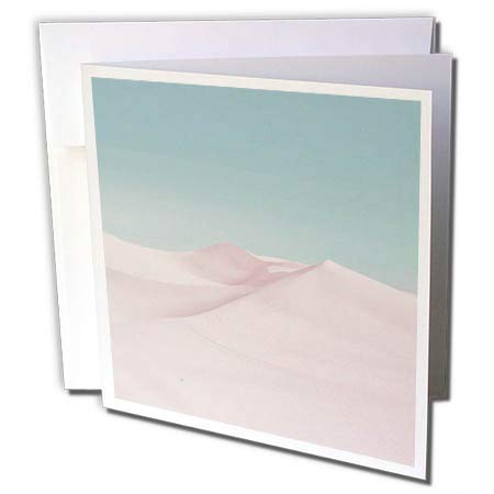 3dRose Andrea Haase Nature Photography - Surreal Desert Scenery in Soft Pastel Colors - 1 Greeting Card with Envelope (gc_288968_5) (1 Soft Pastel)