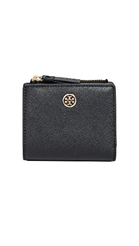 Robinson Mini - Tory Burch Women's Robinson Mini Wallet, Black/Royal Navy, One Size