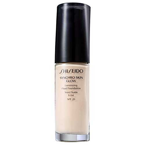 Shiseido Day Foundation - Shiseido Synchro Skin Glow Luminizing Fluid Foundation Spf 20, No.01 Neutral, 1 Ounce