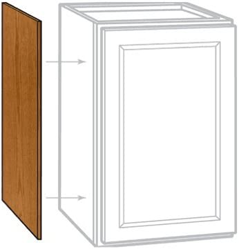 Rsi Home Products Sales 2 Pack 12 X 30 H X 1 4 D Medium Oak Finish Wall Cabinet End Panel, 12 by 30