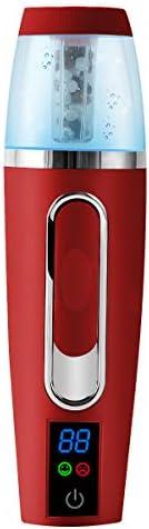 Portable Pulvérisateur Visage, Nano riche en hydrogène Mist Sprayer 30ML, Brumisateur de Poche, Humidificateur facial Rechargeable avec USB, avec Fonction de Test d'humidité Cutanée (Rouge)