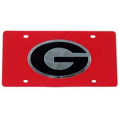 NCAA Georgia Bulldogs Inland Acrylic License Plate (Georgia License Plate)