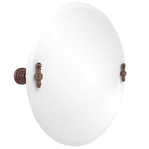 - Allied Brass RD-90-CA Frameless Round Tilt Mirror with Beveled Edge Antique Copper