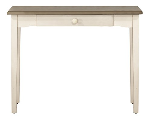 Hillsdale 4542-890 Furniture Clarion, Gray Wood Top/Sea White Base Desk/Table Distressed