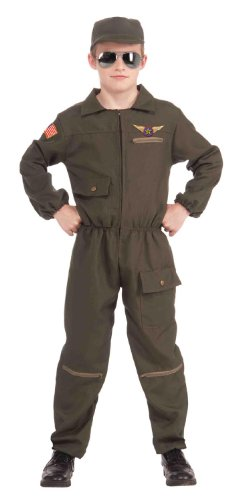 [Forum Novelties Fighter Jet Pilot Child Costume, Medium] (Army Men Halloween Costumes)