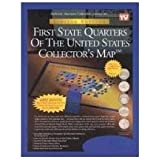 First State Quarters Of The United States Collectors Map - First state quarters of the us collectors map