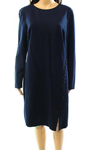Lauren by Ralph Lauren Womens Lace-Detail Sheath Dress Blue - Ralph 16 Size Lauren
