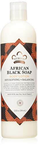 Nubian Heritage Lotion, African Black Soap, 13 Fluid Ounce