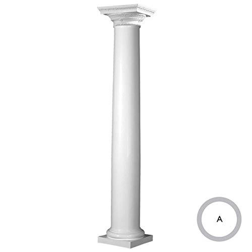 Doric Columns - Endura-Stone ESK0806ATPSATURD Round Tapered (FRP),Roman Doric Ornamental Capital and Tuscan Base Column 8