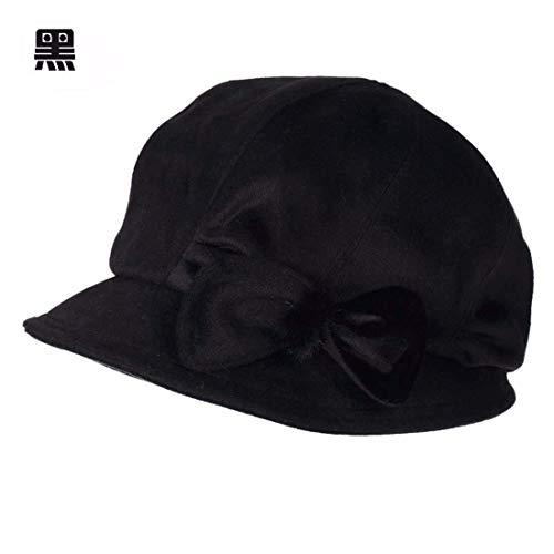 Beret Sombrero Mujer Invierno De Ms Negro Pintor Bud Warm Negro Otoño color L Cap Tamaño Willsego HqE8SwSd