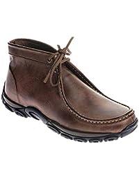 Sapato Casual Couro Conforto Bico Redondo Solado Borracha