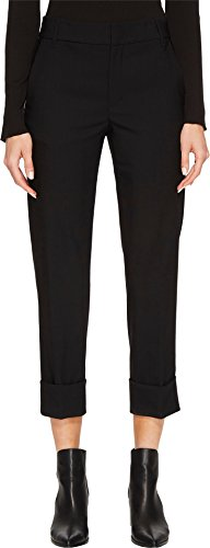 Vince Women's Cuffed Coin Pocket Trousers Black 6 (Pocket Trouser)