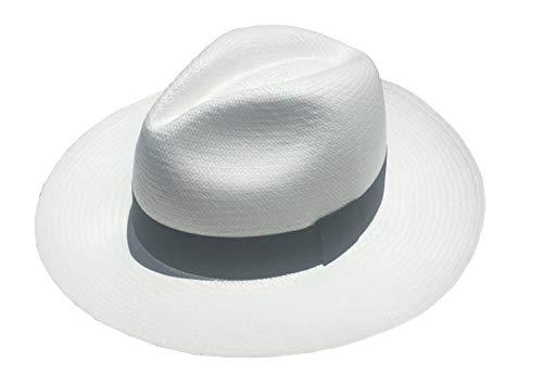 Panama Hat, Handwoven in Montecristi, Ecuador (Extra Large) White