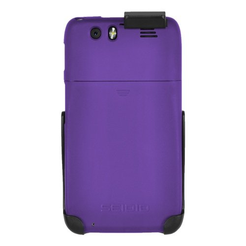 Seidio BD2-HR3MTAT3-PR SURFACE Case and Holster Combo for Motorola Atrix HD - Retail Packaging - Amethyst