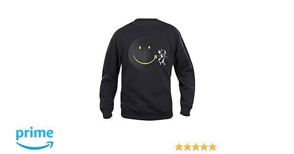 Pampling Sudadera Make a Smile - Astronauta en el Espacio - Serigrafía: Amazon.es: Ropa y accesorios