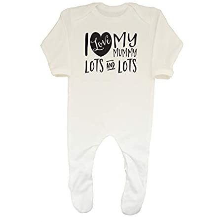 Shopagift Baby I Love My Mummy Lots and Lots Sleepsuit Romper 31H0QEBUCrL