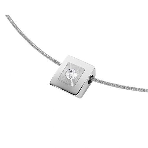 XEn pendentif femme-acier inoxydable 0.04 gr-diamant-blanc - 031620G0 brillant)