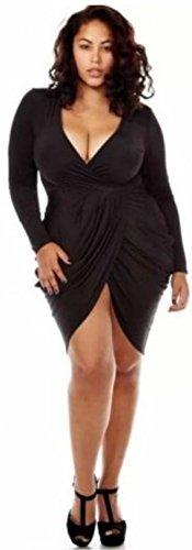 HarrowandSmith - Vestido - ajustado - Manga Larga - para mujer 3 xlarge