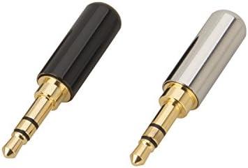 Timibis@ 6Pcs 3 Pole 3.5mm Male Repair Headphone Stereo Jack Plug Metal Audio Soldering /& Spring Connector Adaptor Tool